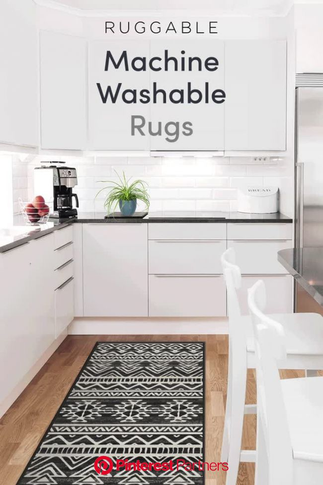 Ruggable, the original 2-piece machine washable rug system! The easiest way to keep your home clean a… [Video] (With videos) | Machine washable rugs,