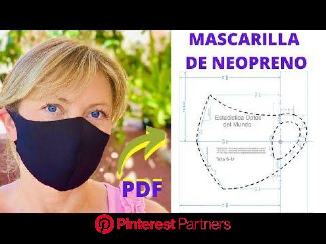 MASCARILLA DE TELA NEOPRENO | NO NECESITA FILTRO | PDF INCLUIDO - YouTube | Neopreno, Mascarilla de tela, Máscaras para imprimir