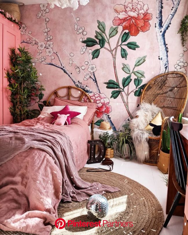 Find Tons of Decor Inspiration in This Quirky and Colorful UK Home | Bohemian bedroom decor, Bedroom decor, Bed design