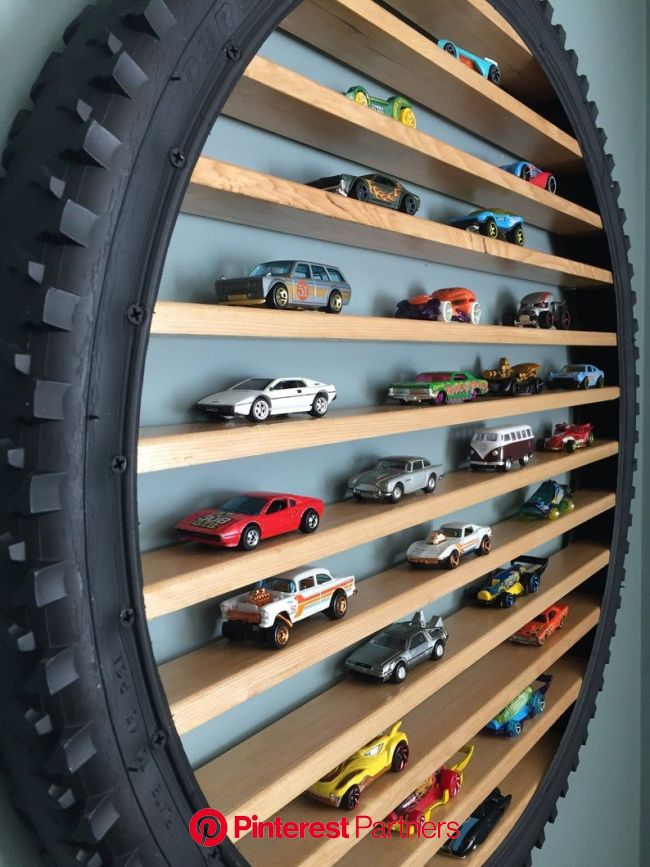 "26"" Hot Wheels and Matchbox Car Display Rack 