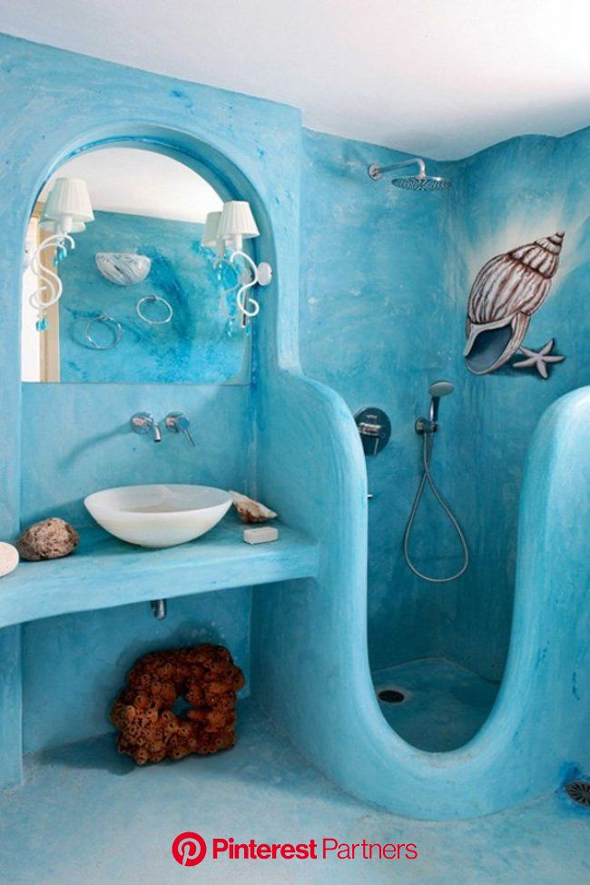 55 Cozy Small Bathroom Ideas for Your Remodel Project | Funky bathroom, Beach bathrooms, Modern bathroom design