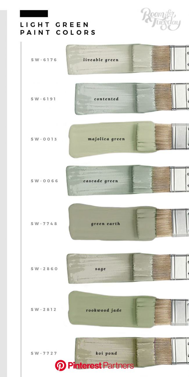 My Favorite Green Paint Colors - Room for Tuesday in 2020 | Paint colors for home, Green paint colors, Green paint