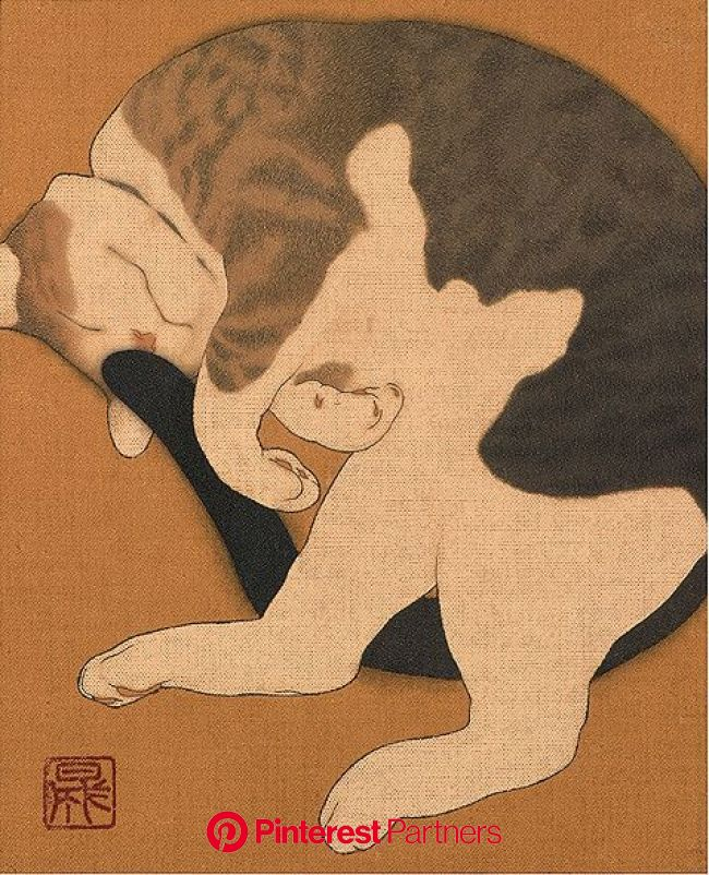 Ikenaga Yasunari-Cat | Ikenaga Yasunari www4.point.ne.jp/~i… | Flickr | Cat art, Japanese cat, Japanese art